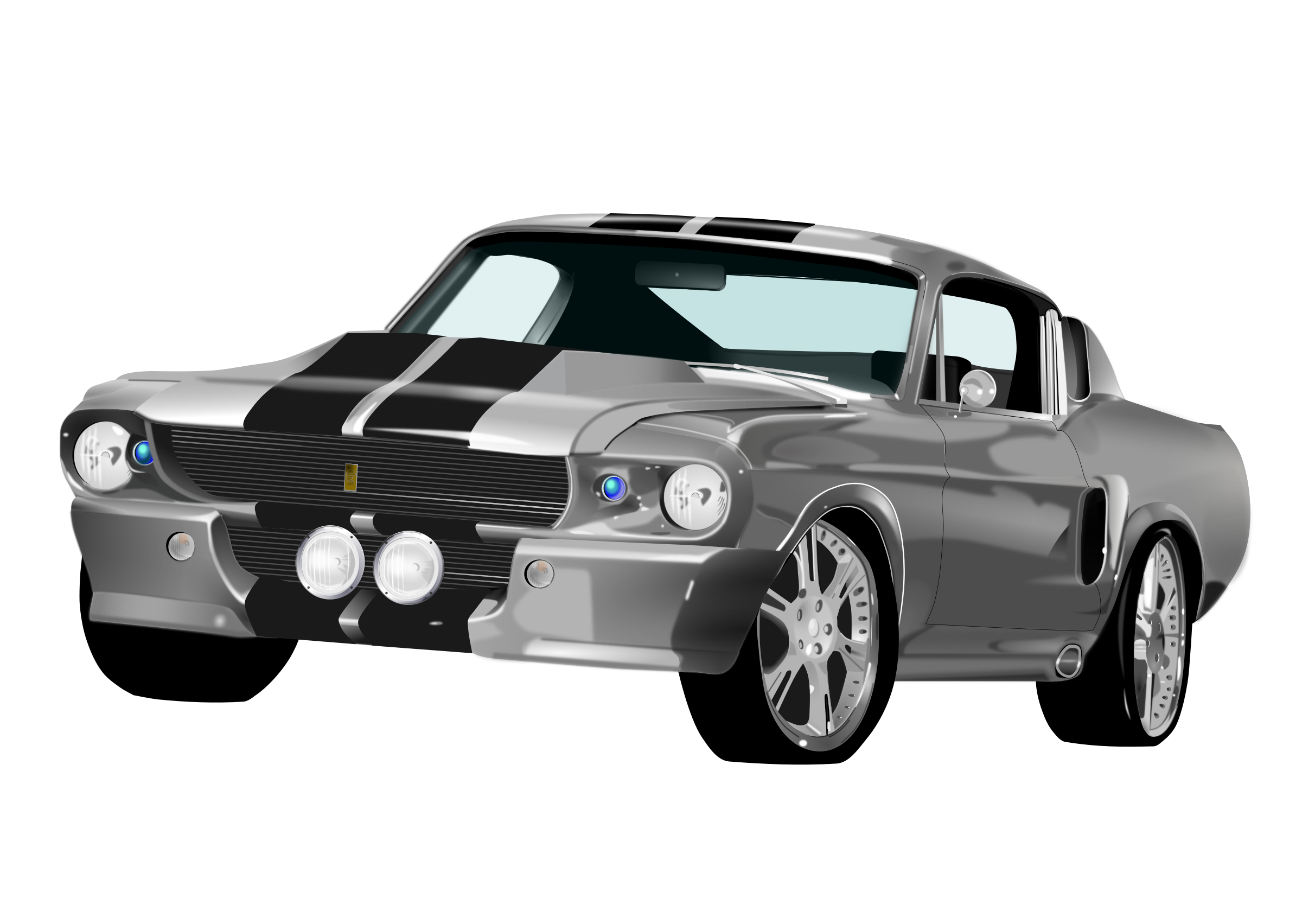 Classic mustang car clipart clip black and white library Clipart - Mustang 500gt clip black and white library