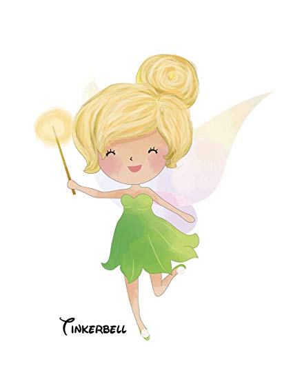 Classic tinkerbell clipart image royalty free Amazon.com: Pop Art Print ~ Inspired by Classic Story Book: FAIRY ... image royalty free