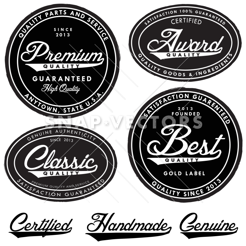 Classic vector clipart jpg royalty free download Vector Clipart Illustrated Retro Badge and Label Set jpg royalty free download