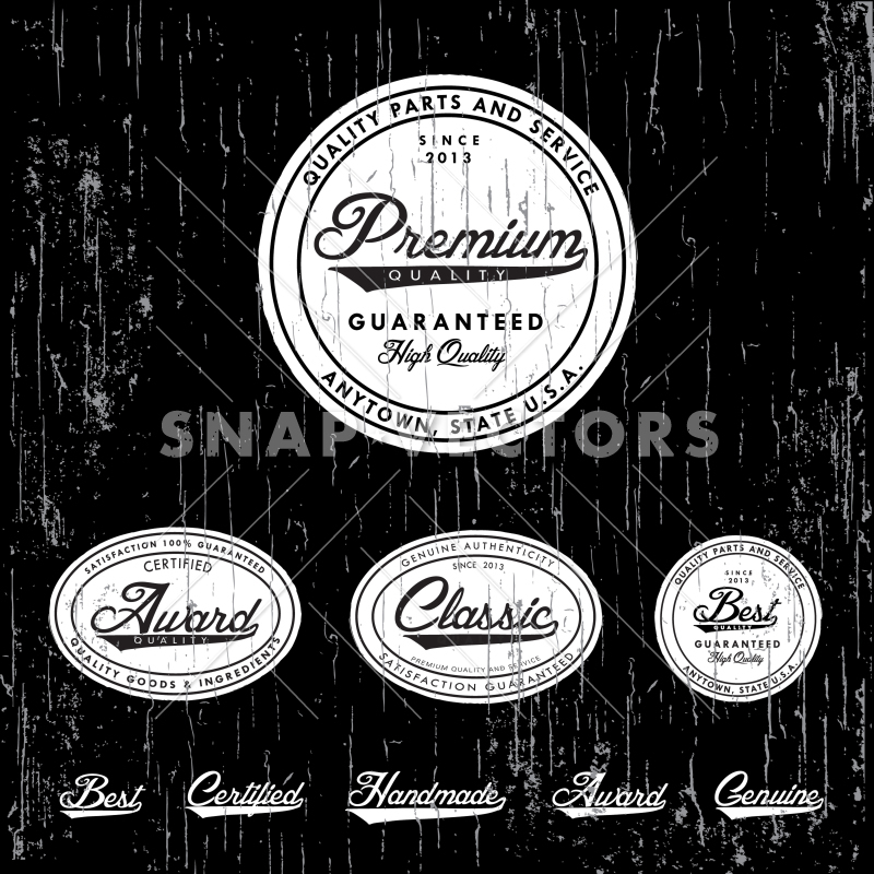 Classic vector clipart banner transparent Vector Clipart Distressed Classic Badge and Label Set banner transparent