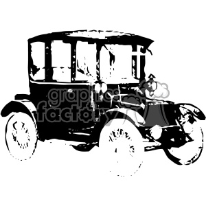 Classic vector clipart picture free library old vintage distressed electric brougham car retro vector design vintage  1900 vector art GF clipart. Royalty-free clipart # 402578 picture free library