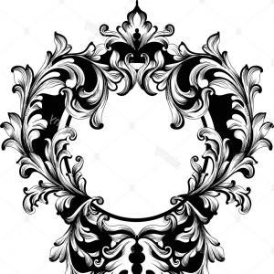 Vintage baroque clipart