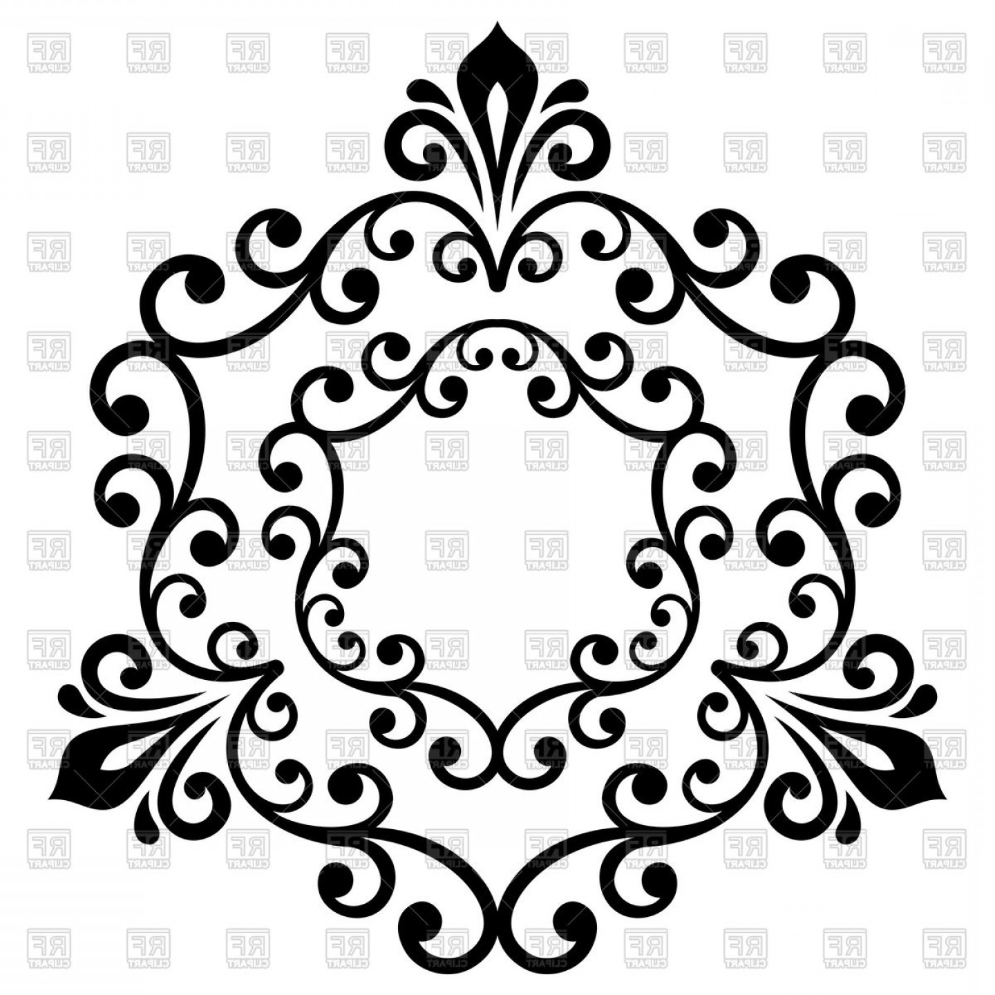 Classic vector clipart clip black and white download Elegant Vector Ornament In Classic Style Abstract Traditional ... clip black and white download