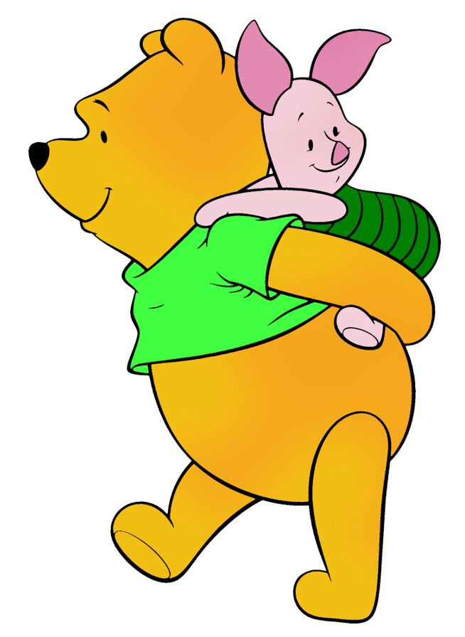 Classic winnie the pooh and piglet clipart green