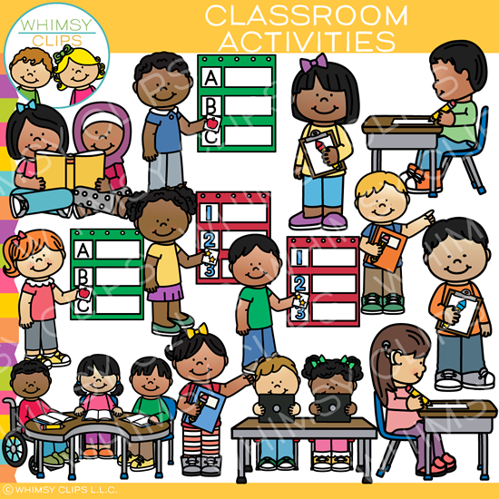 Classroom centers clipart banner royalty free download Classroom centers clip art , Images & Illustrations | Whimsy Clips ® banner royalty free download