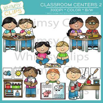 Classroom centers clipart vector library Classroom Centers Clip Art - Two | Preschool Fun | Art, Clip art ... vector library