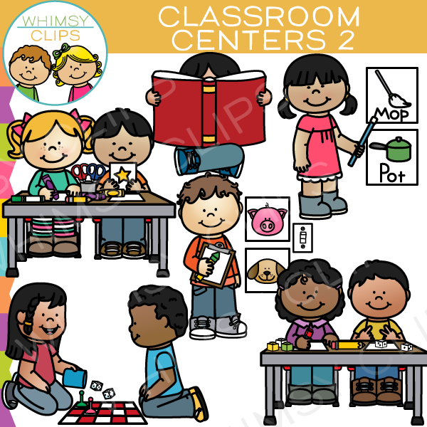 Work stations in the classroom clipart png library download Classroom Centers Clip Art - Set Two png library download