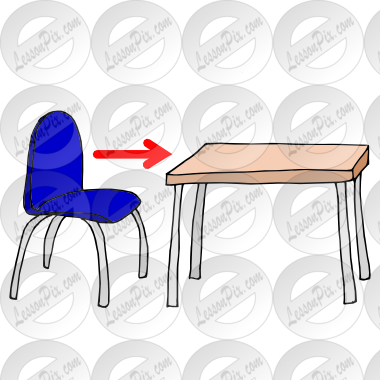 Classroom chairs under tables clipart image royalty free download Push In Chair Picture for Classroom / Therapy Use - Great Push In ... image royalty free download
