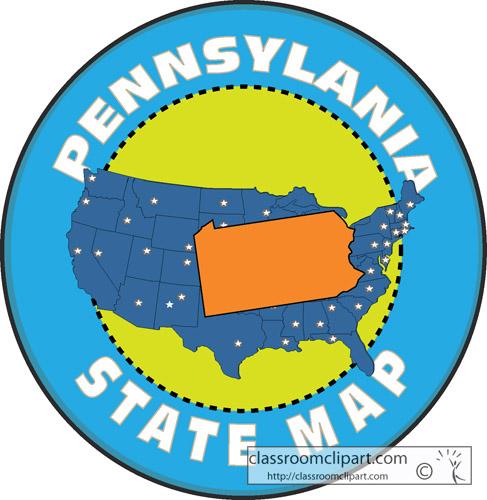 Classroom clipart states clip Pennsylvania Map Clipart - Clipart Kid clip