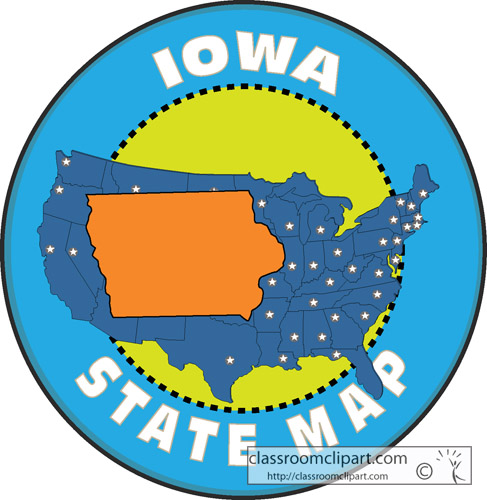 Classroom clipart states clipart free library Iowa Map Clipart - Clipart Kid clipart free library