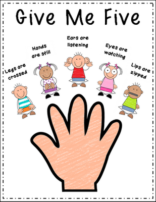 Classroom door crossed out clipart clip library download Give Me Five is a reminder that they use in my field placement ... clip library download