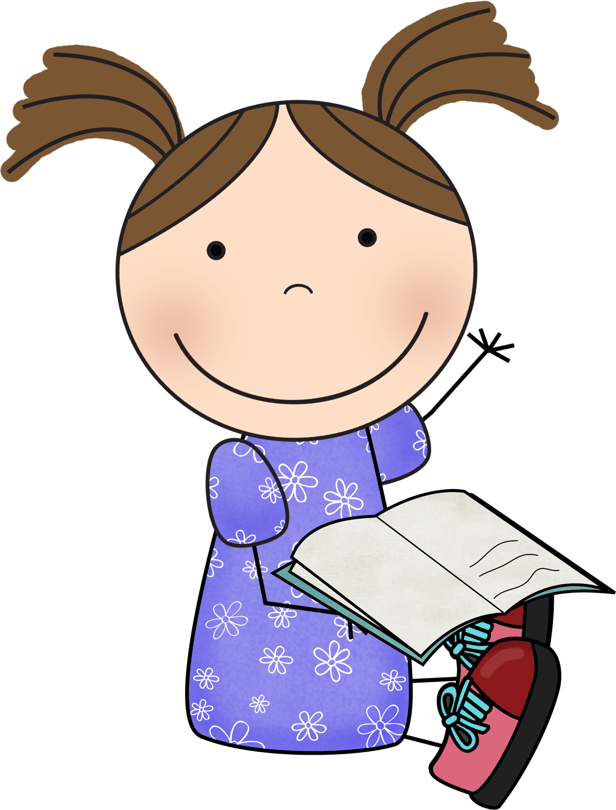 Classroom helper clipart book bag holder graphic freeuse stock Reading_Susie_3.png (1248×1640) | Behavior, rules, routines ... graphic freeuse stock