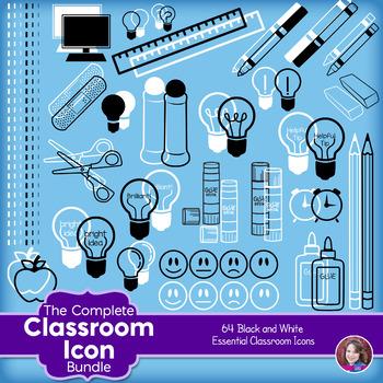 Classroom icon clipart svg black and white Classroom Icon Clipart - black and white svg black and white