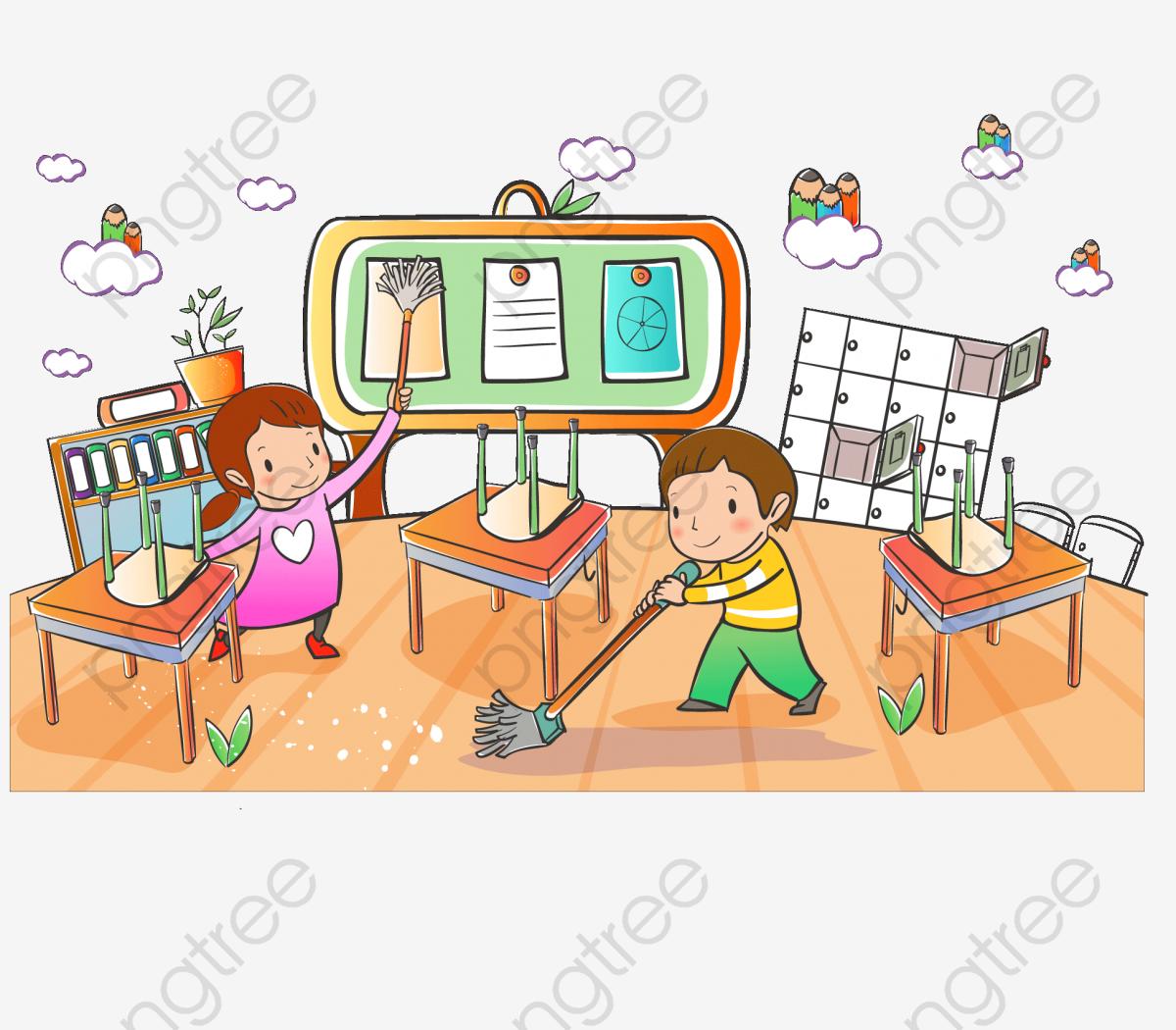 Classroom mayhem clipart