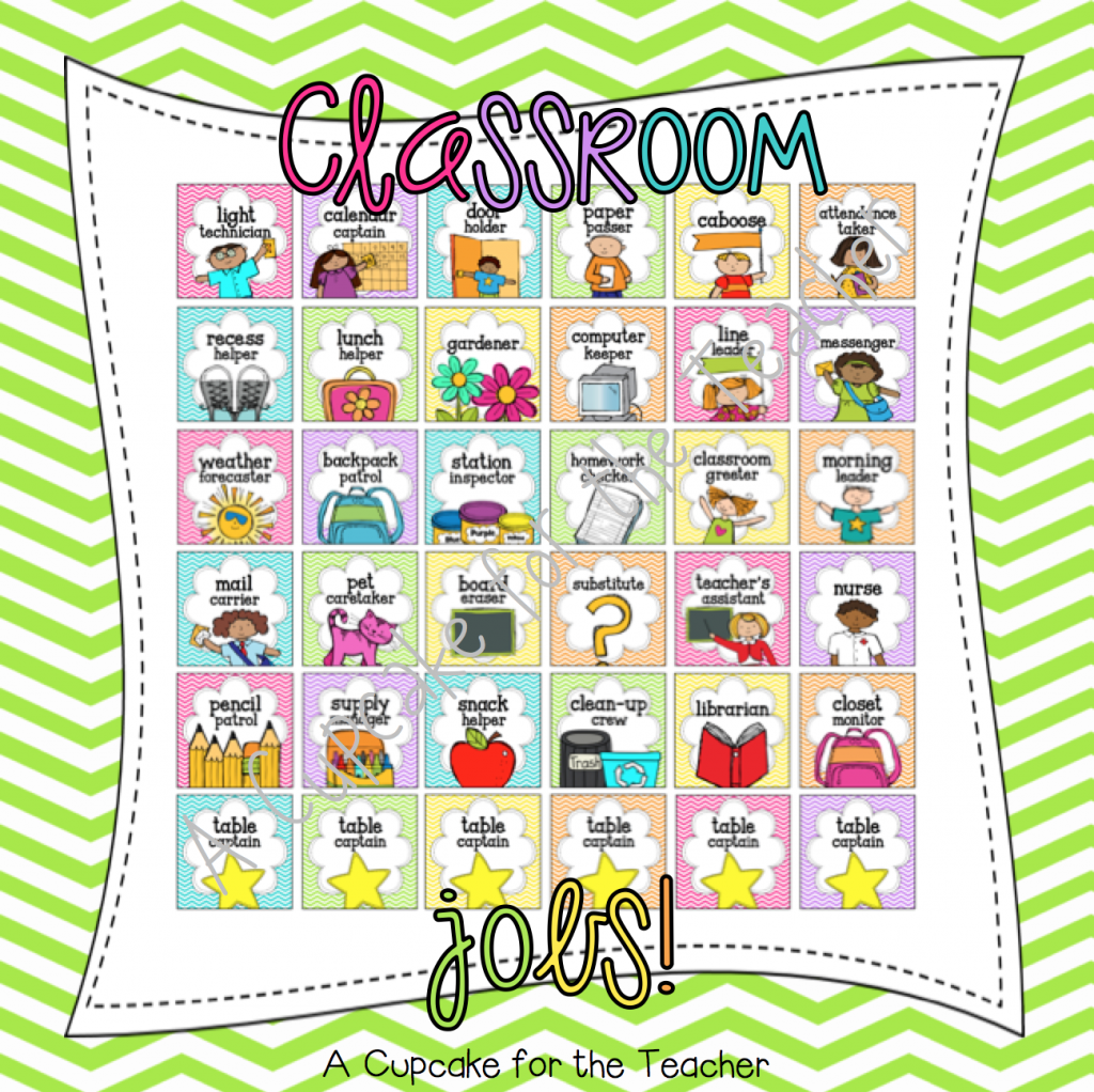 Classroom messenger clipart freeuse download Jobs in the Classroom! - A Cupcake for the Teacher freeuse download