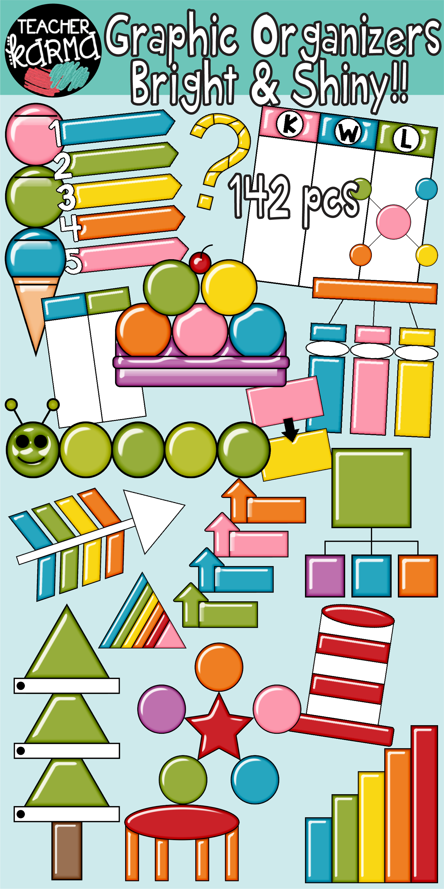 Classroom organizer clipart svg freeuse stock Graphic Organizers Clipart BUNDLE | TK Clipart for Teachers ... svg freeuse stock