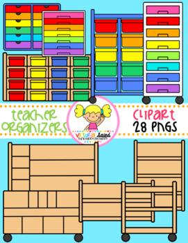 Classroom organizer clipart vector transparent stock Teacher Organizers Clipart | School Theme: Classroom | Teacher ... vector transparent stock