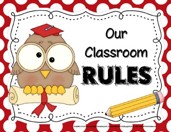 Classroom policy clipart svg transparent Owl-Themed Classroom Rules Posters svg transparent