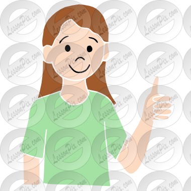 Stencil for therapy use. Classroom thumbs up clipart