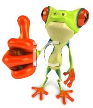 Classroom thumbs up clipart picture black and white library Royalty Free 3d Clipart Image of a Frog Giving a Thumbs Up Sign ... picture black and white library