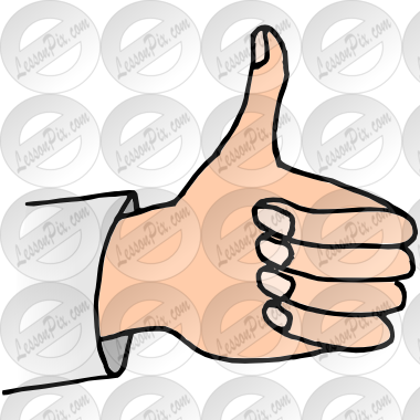 Classroom thumbs up clipart. Picture for therapy use