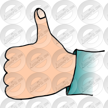 Picture for therapy use. Classroom thumbs up clipart