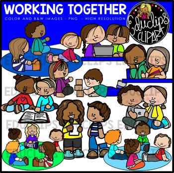 Classworking together clipart graphic black and white download Class Time Clipart Big Bundle {Educlips Clipart} graphic black and white download