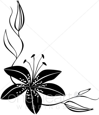 Plants decoration acents clipart black and white clip library Elegant Flower Clipart | Free download best Elegant Flower Clipart ... clip library