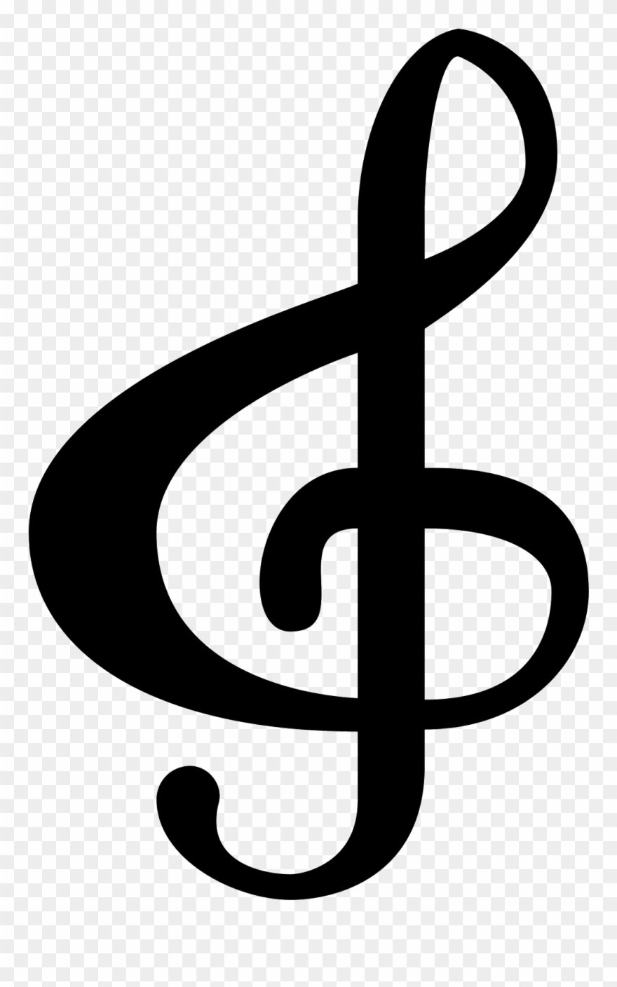 Clave sol clipart graphic black and white stock Image Treble Clef - Clave De Sol Png Clipart (#1339532) - PinClipart graphic black and white stock