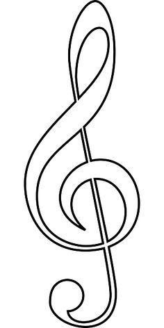 Clave sol clipart png library library Clave Sol | Educación | Music drawings, Music symbols, Music clipart png library library