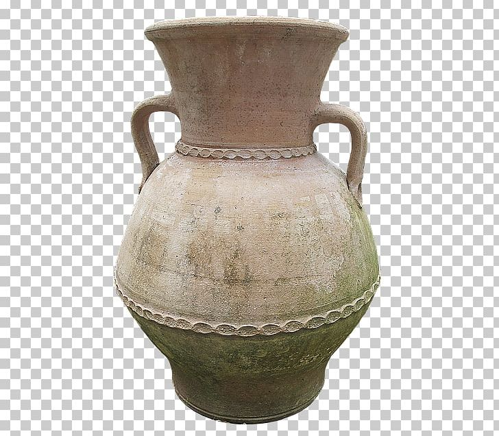 Clay vase border clipart