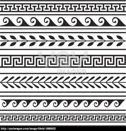 Southwestern borders and frames clipart black and white