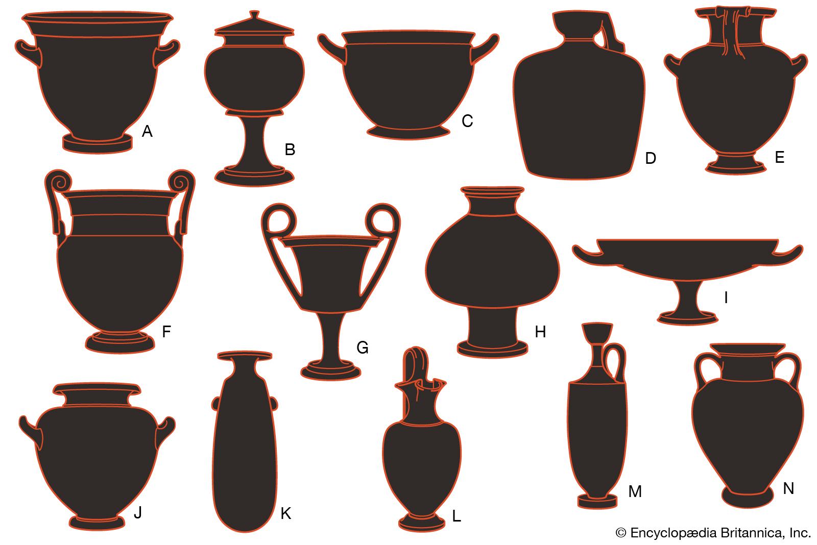Clay vase border clipart clip art Greek pottery   Britannica.com clip art