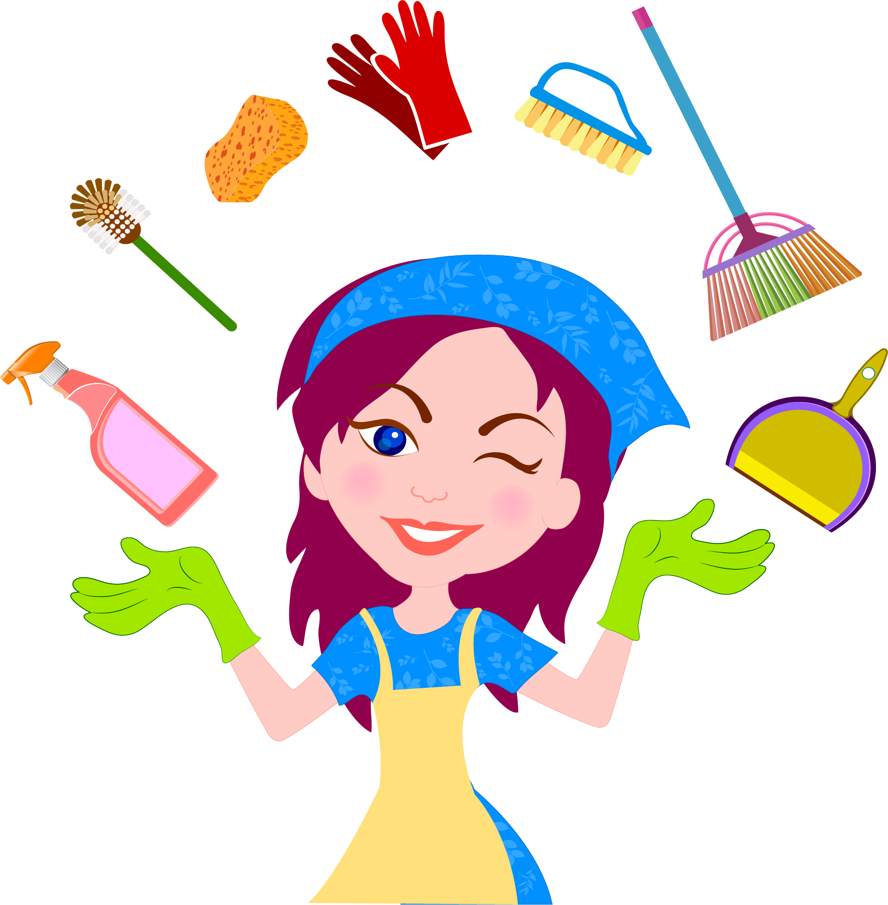 House maid clipart jpg freeuse stock Cleaner Maid service Cleaning Housekeeping - House clean helper 1768 ... jpg freeuse stock