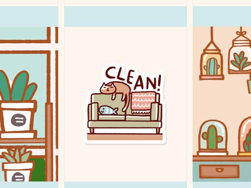 Clean living room clipart svg black and white download IN003: Clean living room svg black and white download