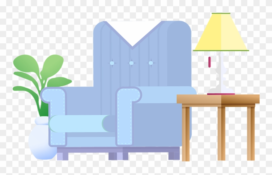 Clean living room clipart jpg free download Zesty Maids Clean Living Room Illustration - Chair Clipart (#1820880 ... jpg free download