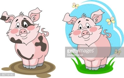 Clean pig clipart picture freeuse Dirty and Clean Pig premium clipart - ClipartLogo.com picture freeuse