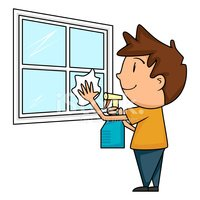 Wash windows clipart