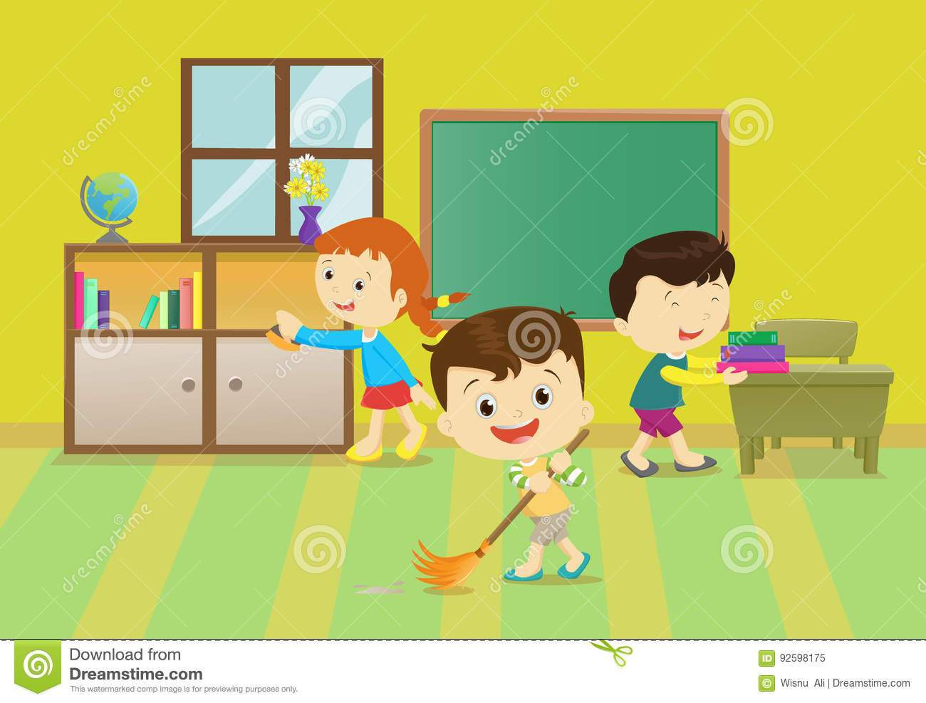 Cleaning classroom clipart svg library library Children cleaning the classroom clipart 6 » Clipart Portal svg library library