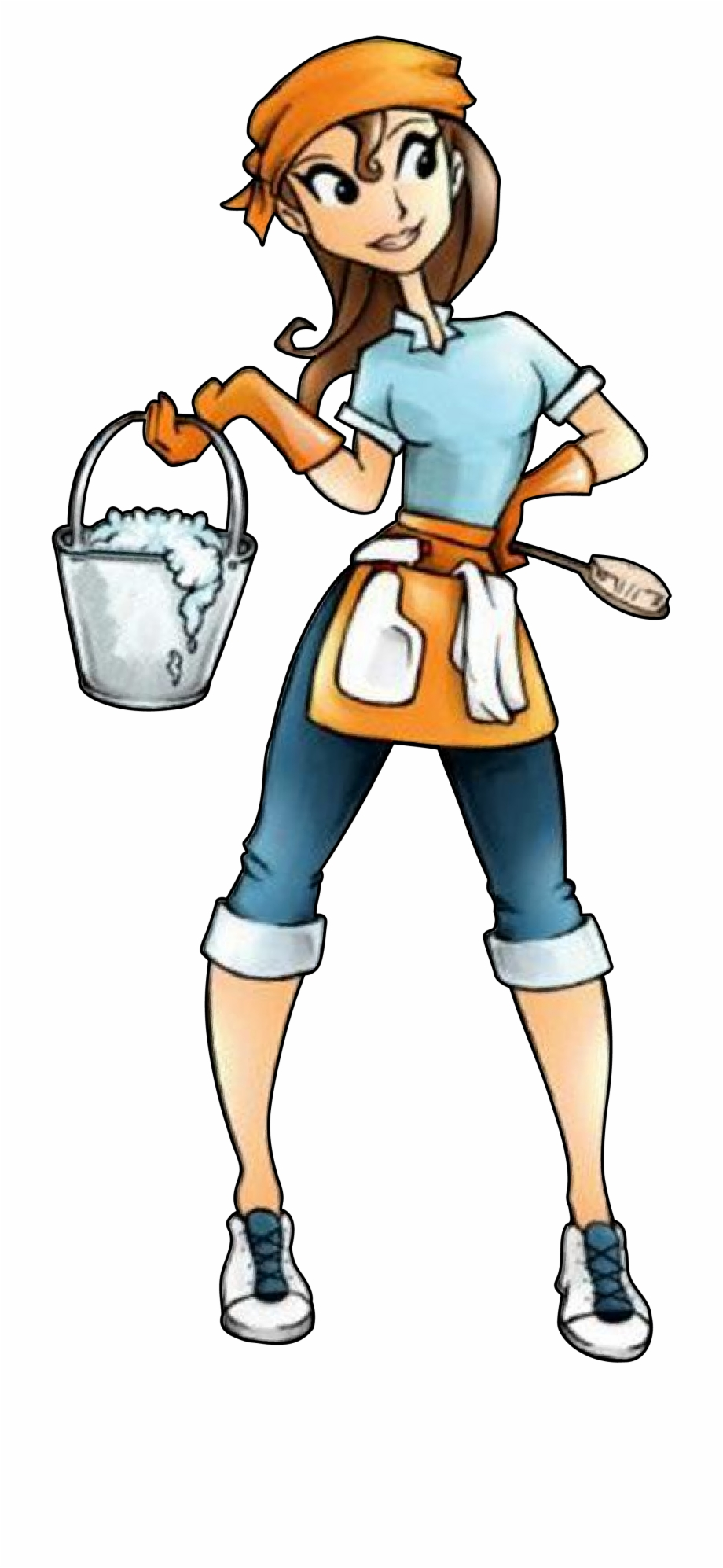 Cleaning woman clipart svg transparent library Clip Art Cleaning Lady Free PNG Images & Clipart Download #447159 ... svg transparent library