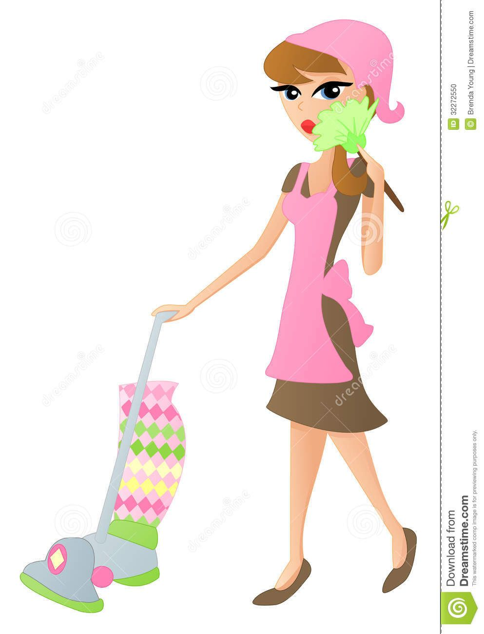 Free download Cartoon Cleaning Lady Clipart for your creation ... svg free library