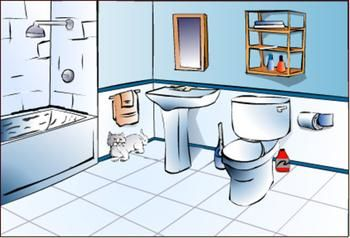 Cleaning the bathroom clipart image freeuse clean bathroom clipart - Google Search | La casa | Cleaning walls ... image freeuse