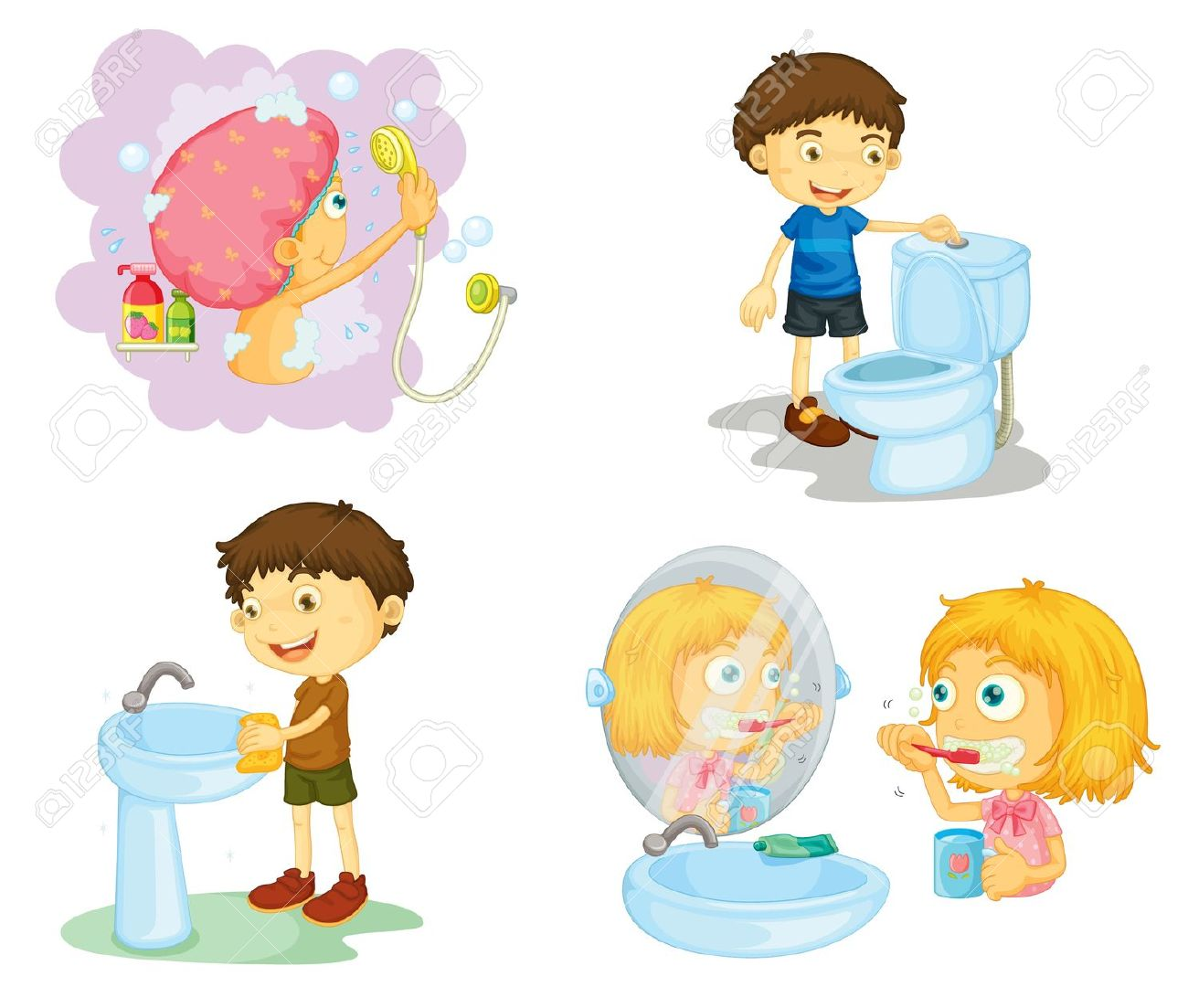 Cleaning with kids clipart jpg royalty free stock Kids cleaning bathroom clipart - ClipartFest jpg royalty free stock