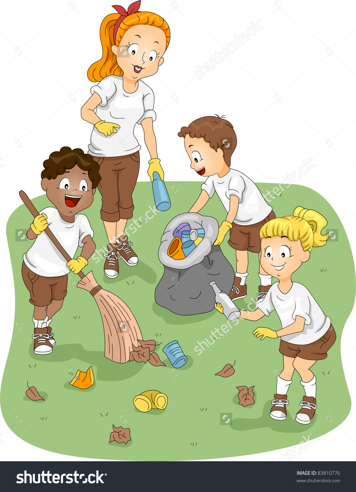 Cleaning with kids clipart clip stock Kids cleaning the environment clipart - ClipartFest clip stock