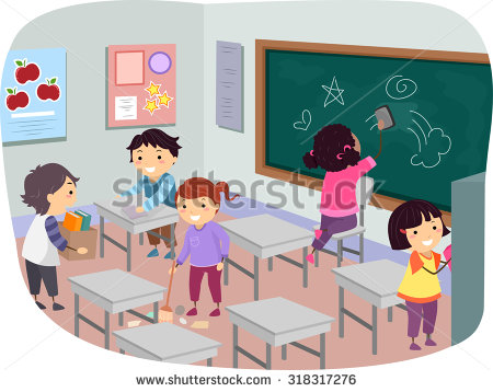 Cleaning with kids clipart image Kids cleaning up classroom clipart - ClipartFest image