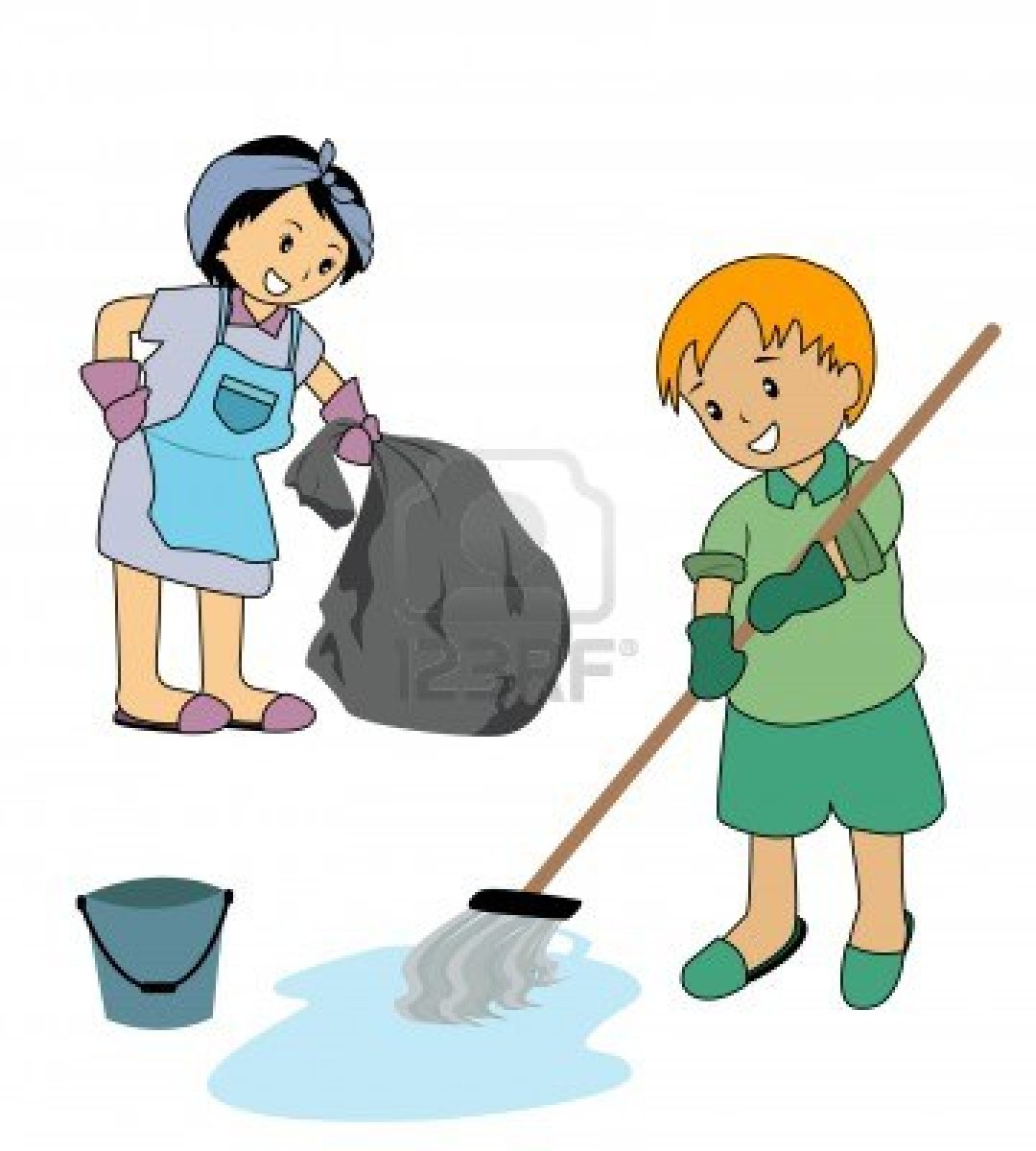 Cleaning with kids clipart clipart royalty free stock Cleaning with kids clipart - ClipartFest clipart royalty free stock