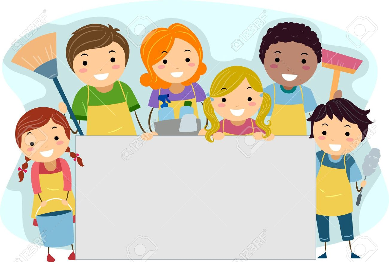 Cleaning with kids clipart clipart black and white download Cleaning with kids clipart - ClipartFest clipart black and white download