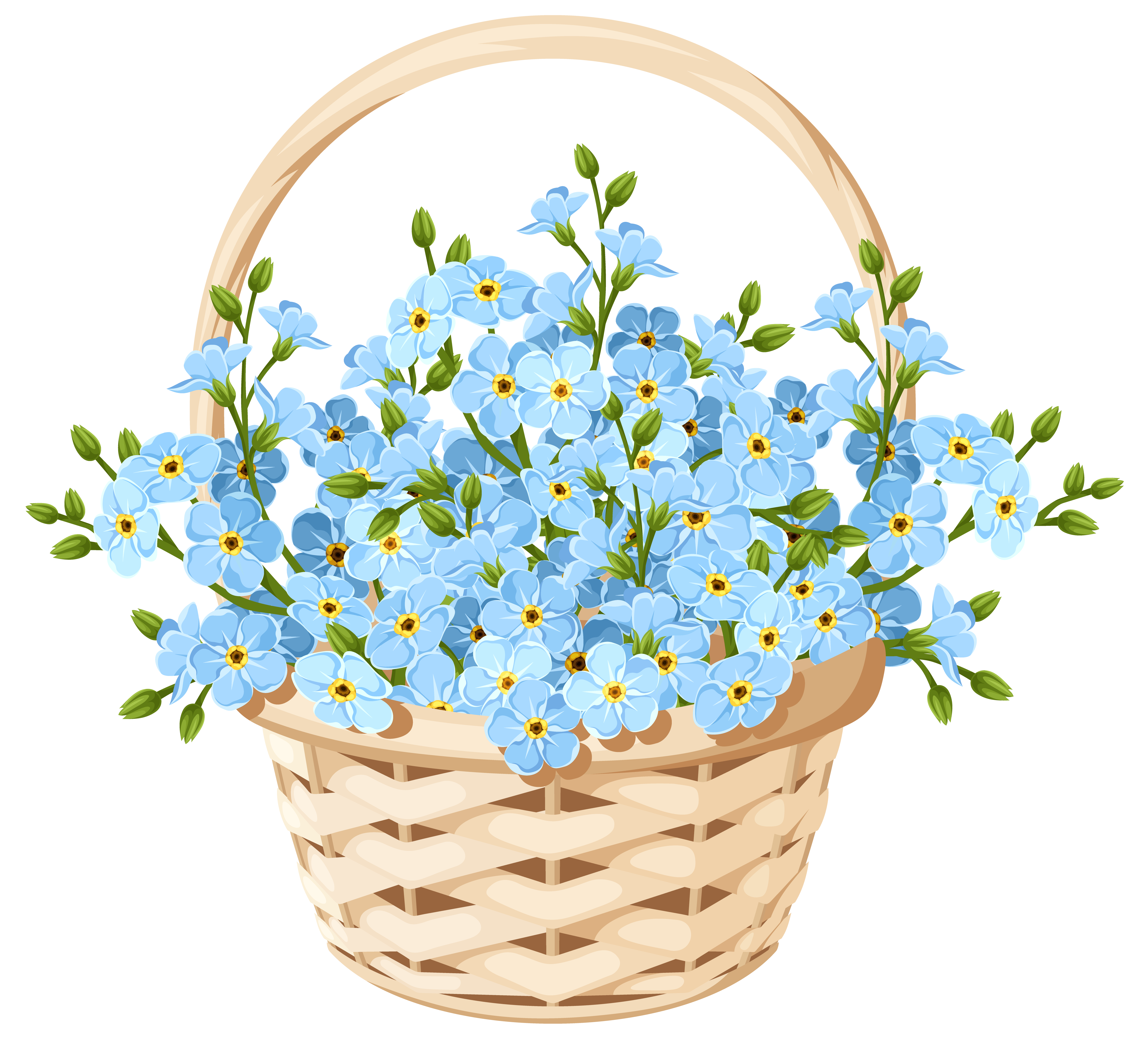 Free flower clipart transparent background jpg download Flower Basket Transparent PNG Clip Art Image | Gallery Yopriceville ... jpg download