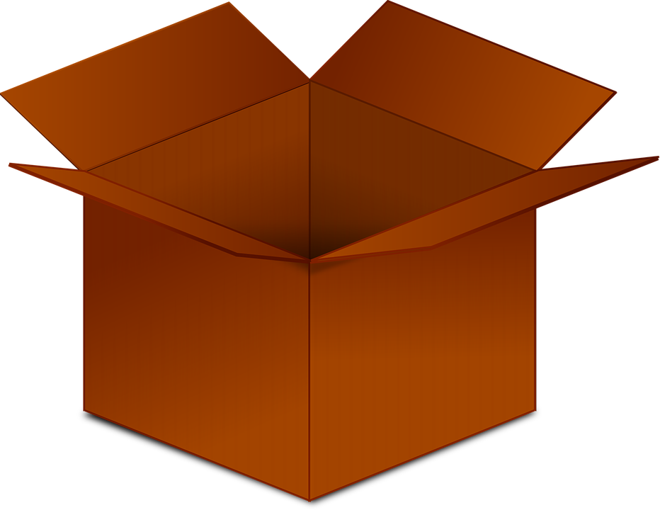 Clear empty box clipart image black and white download HD Box Cardboard Box Cardboard Brown Empty - Box Clipart Transparent ... image black and white download