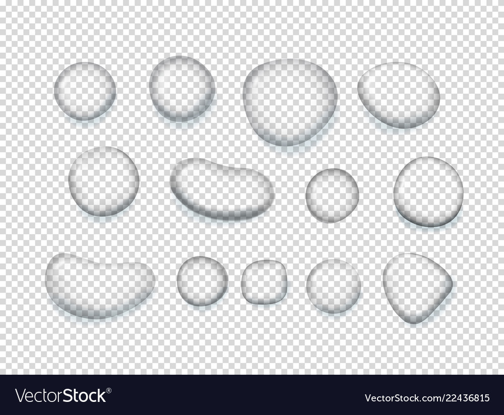 Clear water clipart svg library library Clear water drops clipart objects isolated on svg library library